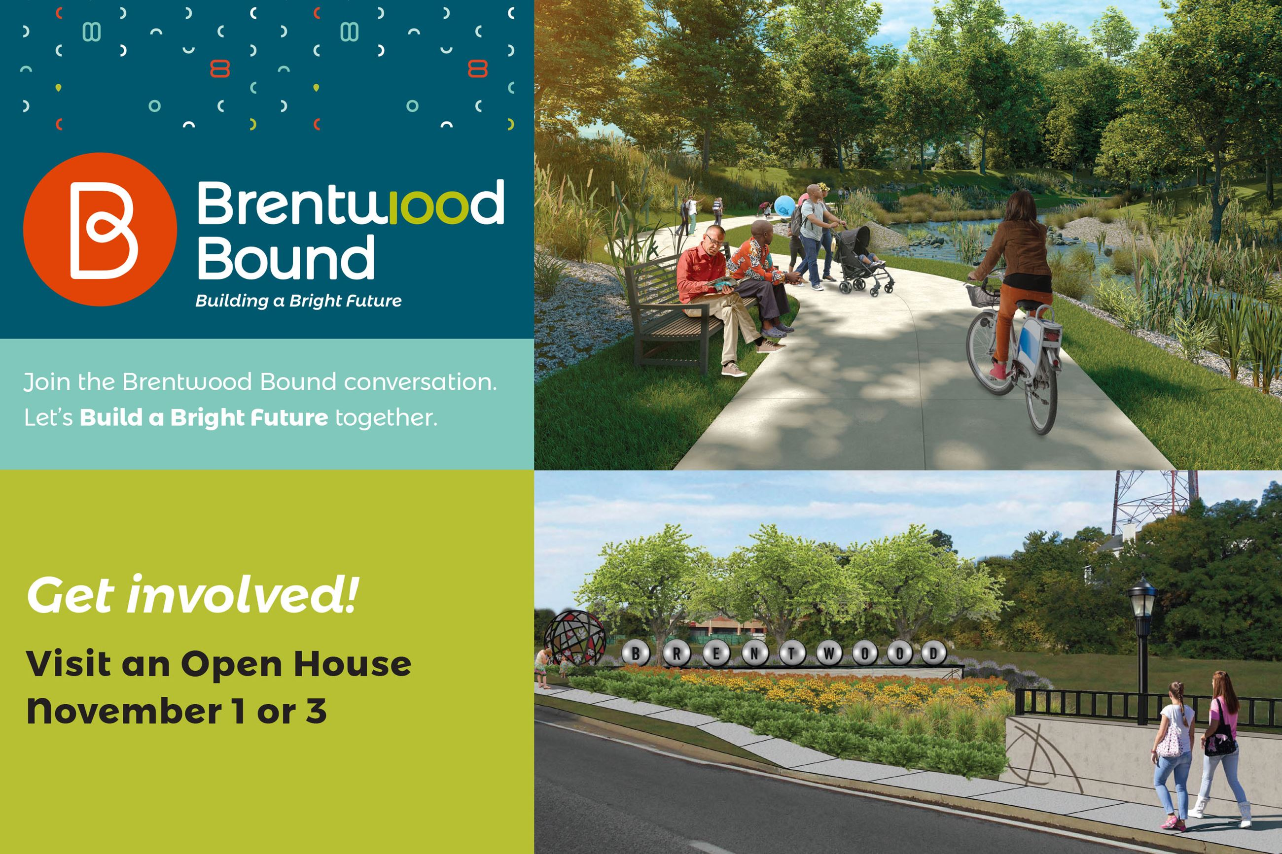 Brentwood Bound Open House Postcard